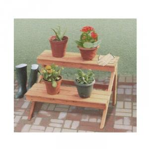 2 Tier Outdoor Flower Pot Shelf
